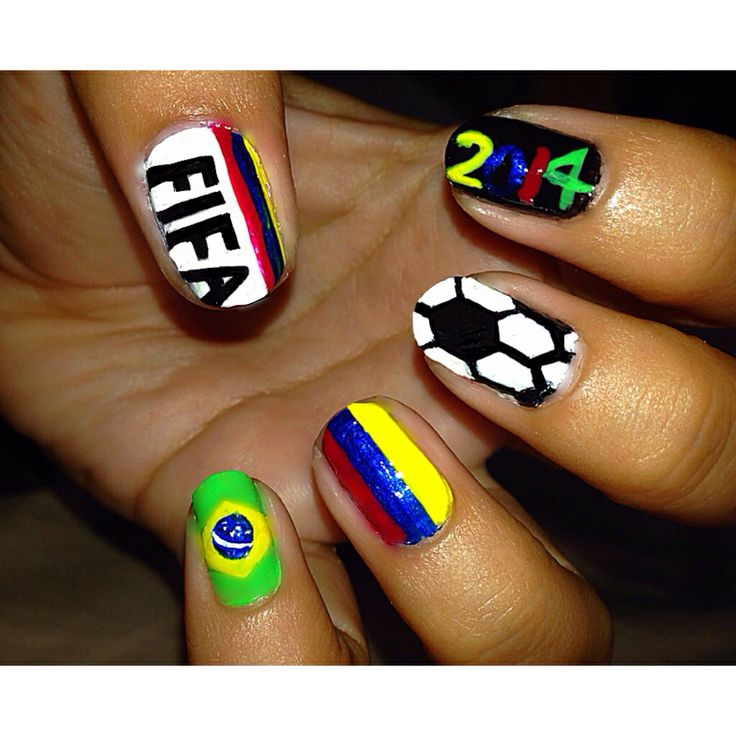 FIFA World Cup// Colombia nails// World Cup 2014