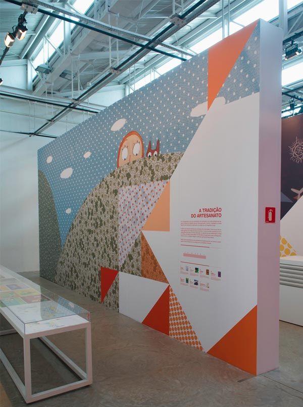 """Linhas de Histórias - SESC Belenzinho. Brazilian studio Campo created the identity, signage and printed pieces for the exhibition: """"Linhas de Histórias""""."""