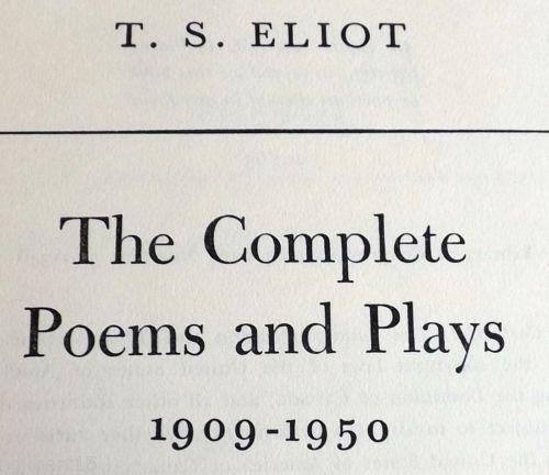 Ts eliot poetry style