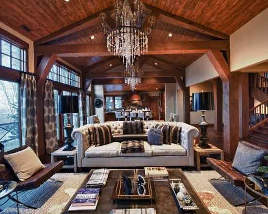 Modern Cabin Bedding: Modern Lodge Kitchen Design, Pictures, Remodel, Decor And
