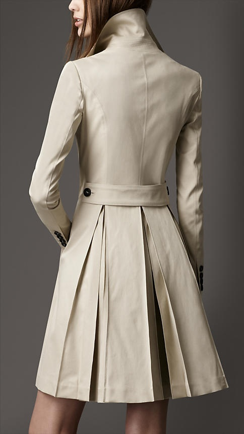 Pleated Trench Coat Back View My Style Pinterest