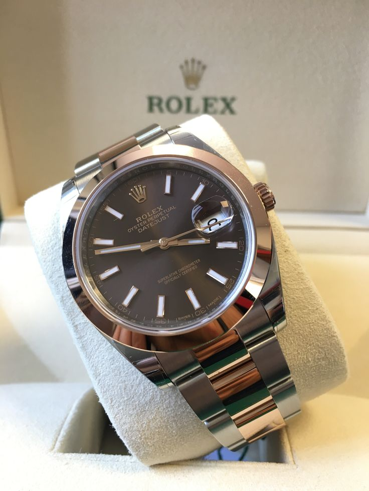 Smooth like chocolate! https://www.globalwatchshop.co.uk/Rolex-Datejust-41-Steel-&-Everose-Gold-Chocolate-Baton-Dial-Oyster-126301.html?utm_content=buffer3ede3&utm_medium=social&utm_source=pinterest.com&utm_campaign=buffer In stock to buy now!