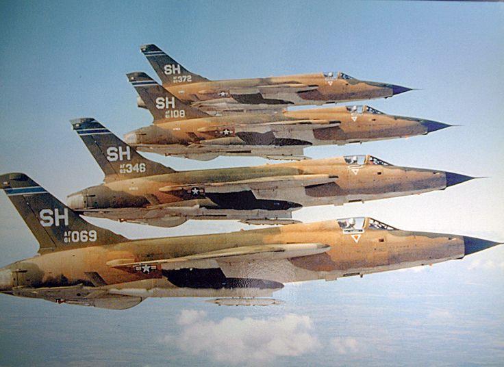 F-105 Thundercheifs in formation