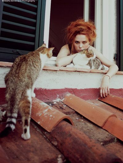 VANESSA WITH CATS by *M0THart on deviantART