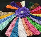 "24 PCS 1.5"" crochet headbands baby girl"