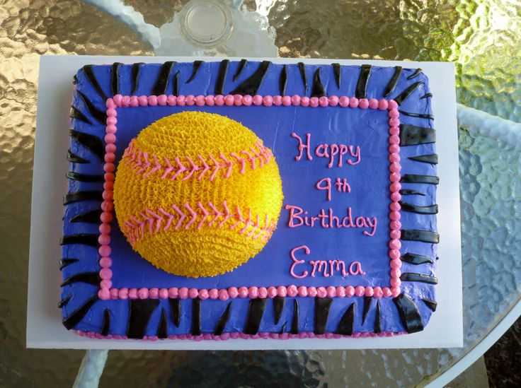 32 Best Softball Cakes Images On Pinterest Softball