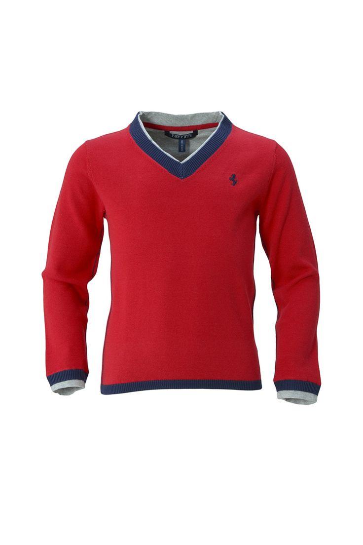 Однотонный свитер с контрастными вставками, V-образный вырез http://oneclub.ua/sviter-53446.html#product_option4