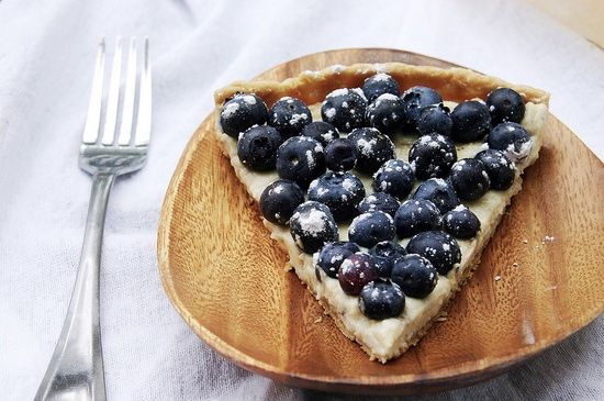 Ricotta  Blueberry Tart with Honey - Click For Recipe