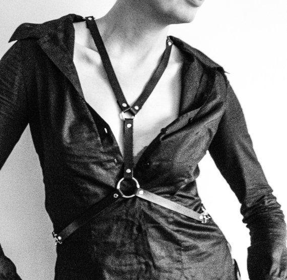 welovenancy BLCK NIGHT Black leather harness Body by WELOVENANCY