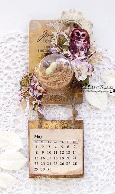 Осенняя: Магнит-календарь, или упаковку в дело