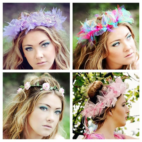 New Tulle/Chiffon Bridal Headpieces  Fairy by SugarSweetFairies