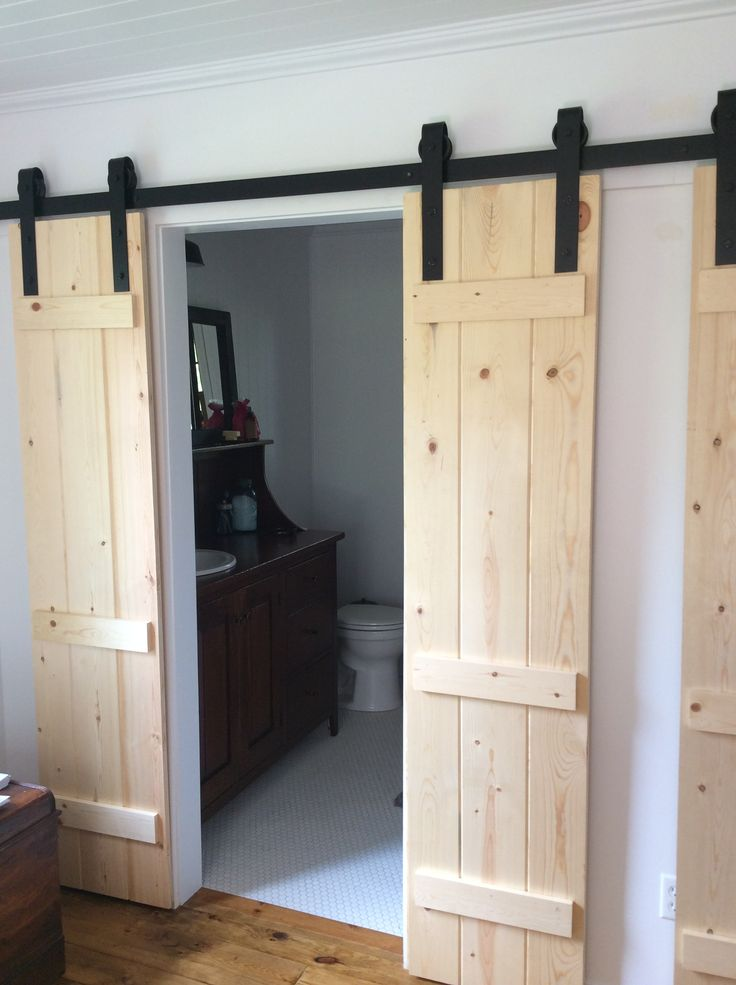 My Husband Made These Barn Doors To Add Privacy To Our