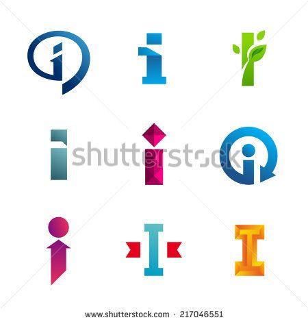 """arbuz's """"Letter I logos"""" set on Shutterstock"""