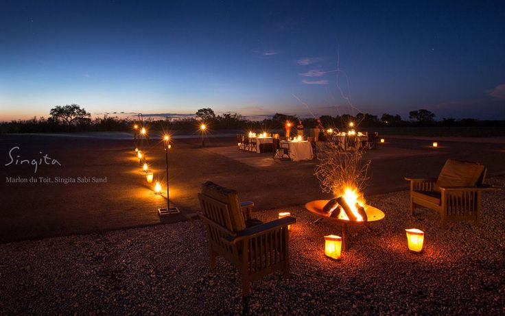 Dinner under the African sky at Singita Boulders.  (Marlon du Toit, Field Guide @ Singita Sabi Sand)