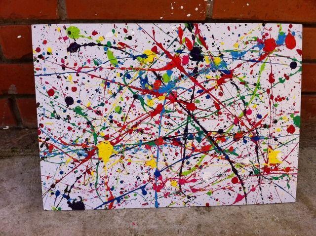 Best 25+ Splatter paint canvas ideas on Pinterest
