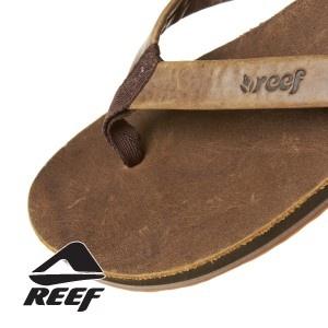 Reef Girls Skinny Leather Flip Flops - Brown
