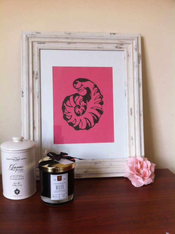 Hand made screen print. Only made one copy in this variation, the print comes signed and numbered and in card mount. Printed on high quality hand made card. Please note that the frame is only for decorative purposes and it doesnt come with the print.