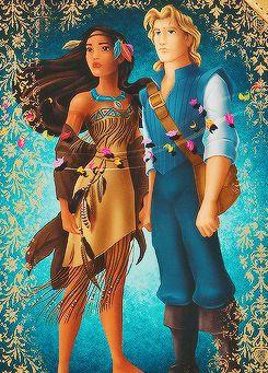 Pocahontas and John Smith, Disney Fairytale Designer Collection