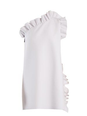 b906a9c2261967 One-shoulder ruffle-trimmed crepe dress | MSGM | MATCHESFASHION.COM ...