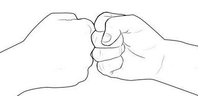 1. The fist bump