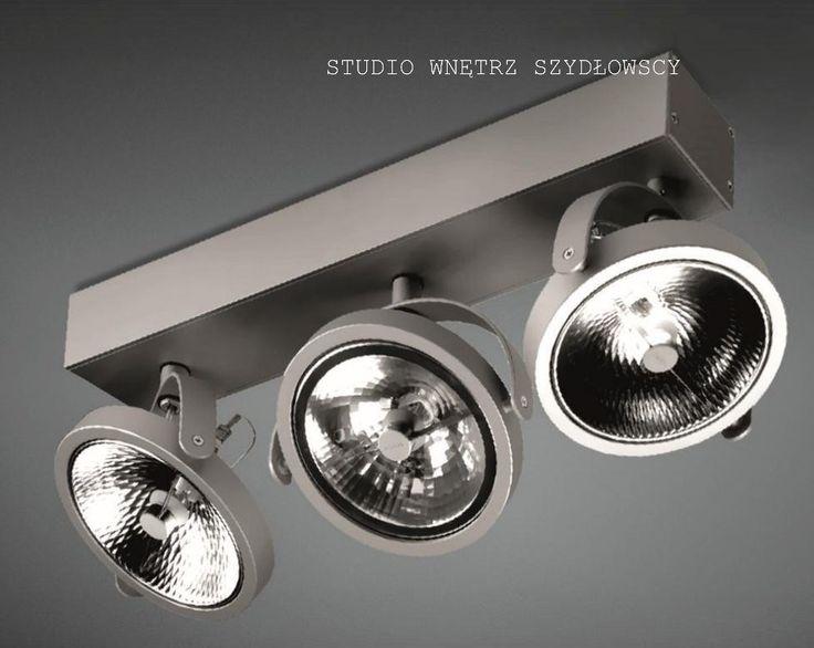 AQUAFORM Oświetlenie Nowoczesne CERESx3 R 50W Oprawa przysufitowa aluminium 152131