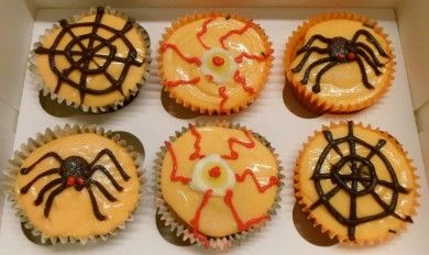 Red eye's & spiders Cupcakes