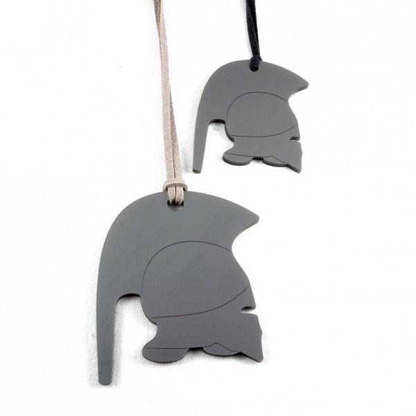 Athena helmet pendant