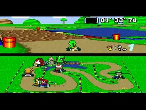 Classic Gameplays: Super Mario Kart on SNES9X (50cc Mushroom Cup)
