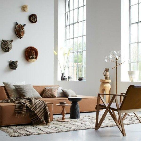 Ethno Style Wohnzimmereinrichtung Afrikanisch