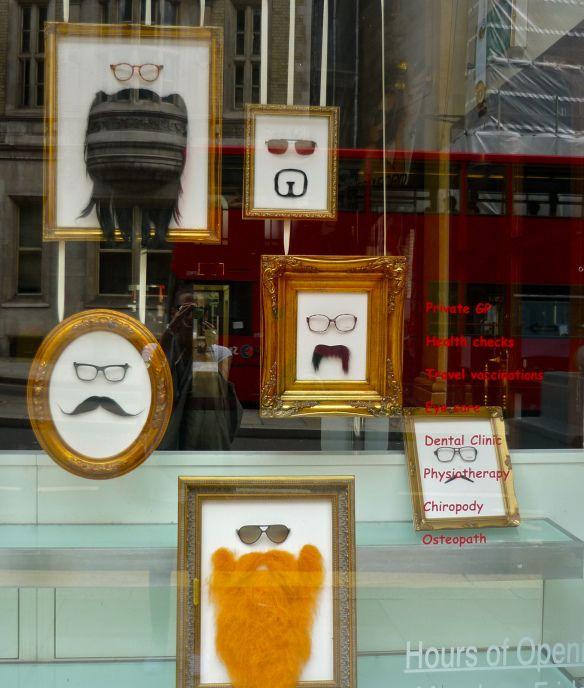 Great Movember Eyewear Display Idea. Eyeglasses display