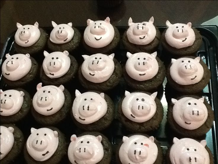 Cup cake pig