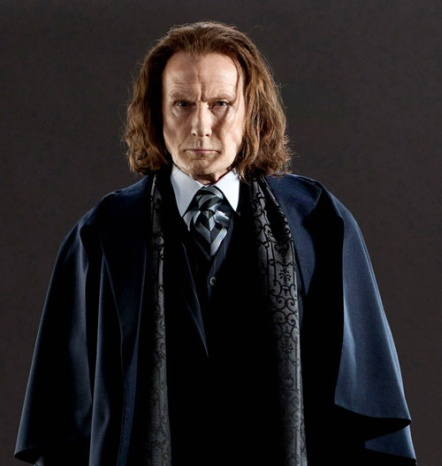 When the eyes narrow. |Bill Nighy as  Rufus Scrimgeour