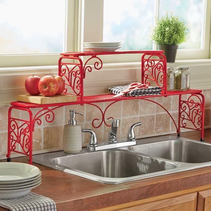 2 Tier Scroll Sink Shelf Sink Shelf Over Sink Shelf Sink