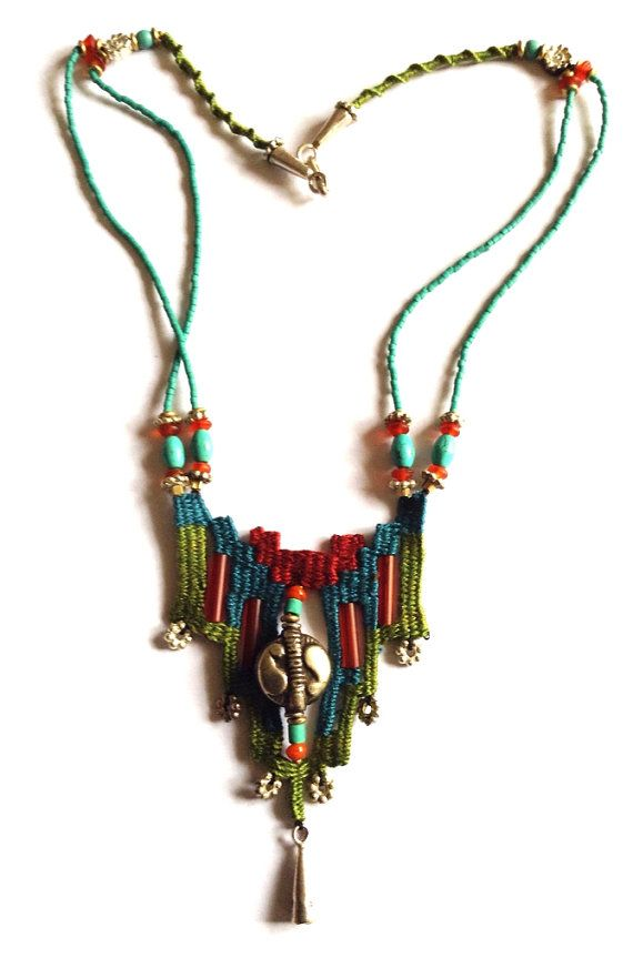 Etsy listing at https://www.etsy.com/listing/179462710/unique-hand-woven-necklace-needle