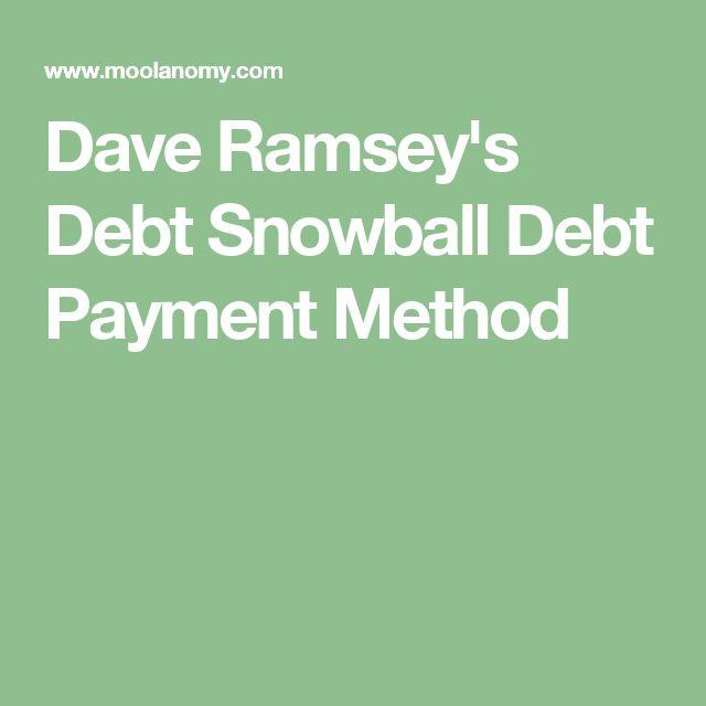 Dave Ramsey's Debt Snowball Debt Payment Method