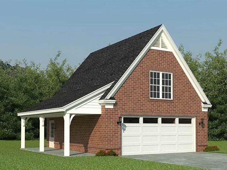 Unattached carports detached 2 car garage plans shop for Southern living detached garage plans