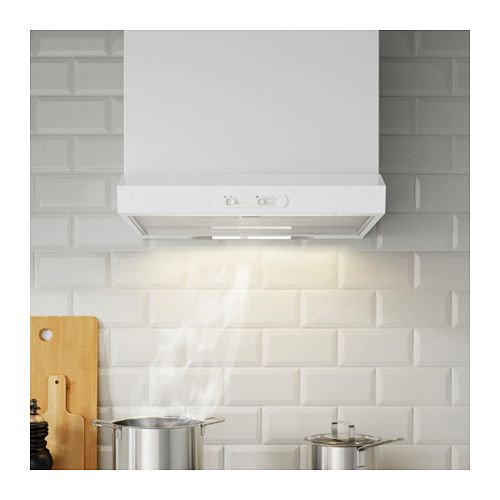 LAGAN Wall mounted extractor hood, white