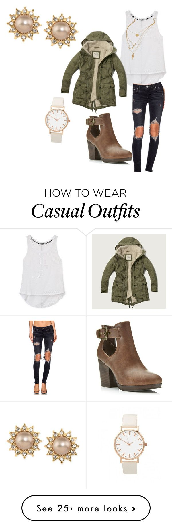 """casual fall"" by darriannah on Polyvore featuring Rebecca Minkoff, Abercrombie & Fitch, Miss Selfridge, Lovers + Friends and Carolee"