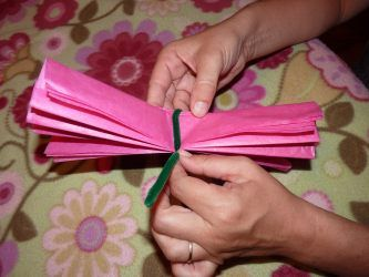 Mexican Tissue Paper Flowers ~ Instructions