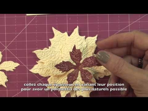 Visit Susan's Garden to learn how you can easily create realistic-looking poinsettias for all your holiday crafting needs. The Sizzix Poinsettia Flower Thinl...