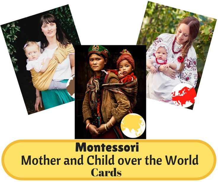 Free Mother and Child over the World Cards from I Believe in Montessori