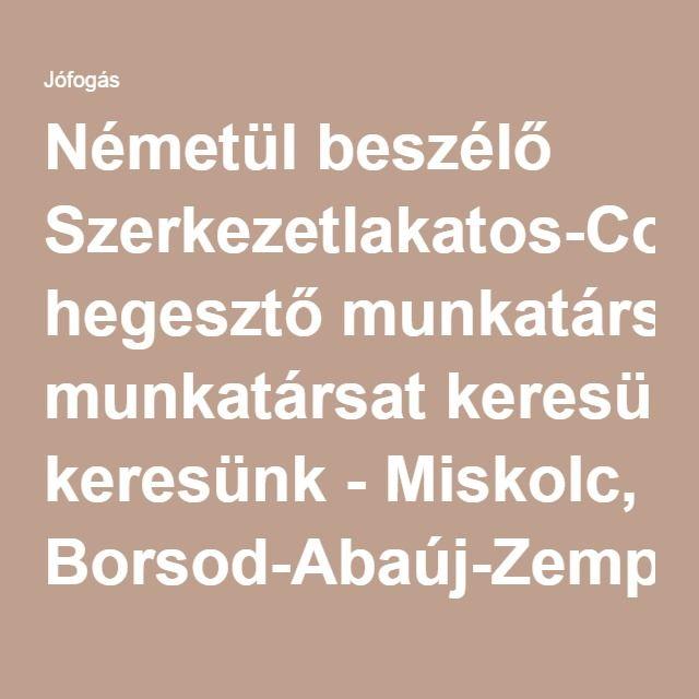 Németül beszélő Szerkezetlakatos-Co hegesztő munkatársat keresünk - Miskolc, Borsod-Abaúj-Zemplén - Külföldi munka
