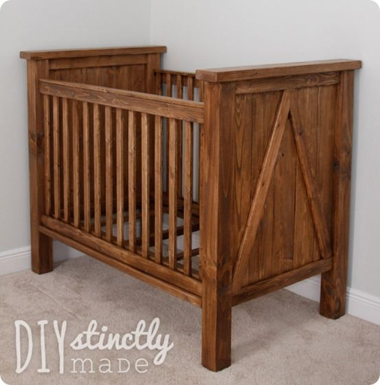 DIY Furniture ~ Get the free project plans to knock off a beautiful Pottery Barn Kids crib for only $200!