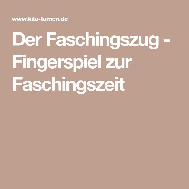Der Faschingszug - Fingerspiel zur Faschingszeit