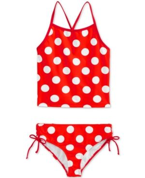 Kanu Surf 2-Pc. Dot-Print Tankini Swimsuit, Big Girls (7-16) - Red 14