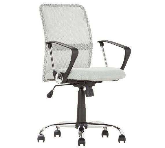 Buy Mesh Gas Lift Mid Back Adjustable Office Chair - Grey at Argos.co.uk - Your Online Shop for Office chairs, Office furniture, Home and garden.