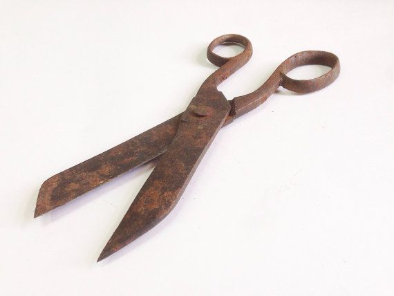Large Antique Victorian era Scissors Shabby Chic by SovietHardware