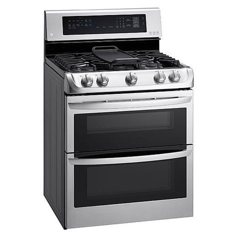 LG 6.9 cu. ft. Gas Double Oven Range w/ ProBake Convection™ EasyClean® Express & Gliding Rack – Stainless Steel 2