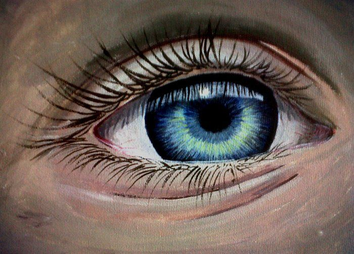 13 best watercolor eye images on pinterest watercolor On acrylic eye painting
