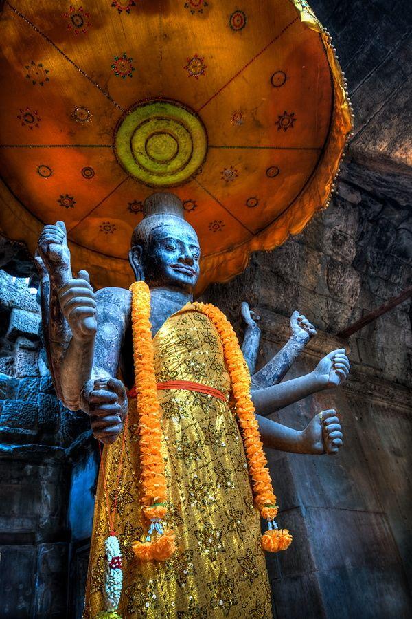 Narayana - Vishnu, Angkor Wat, Siem Reap, Cambodia, March 2014